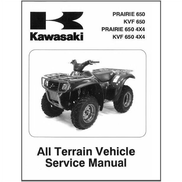 02-03 Kawasaki Prairie 650 / Kvf 650 4X4 Atv Service Repair Manual inside Kawasaki Prairie 650 Parts Diagram