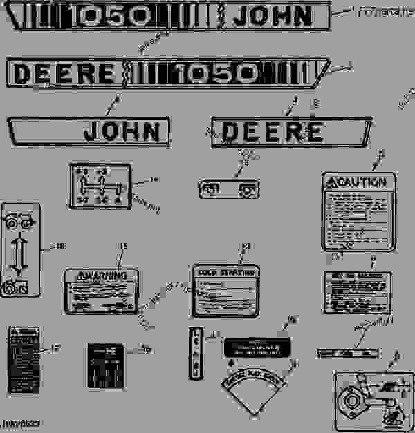 1050 John Deere Tractor Parts Diagram