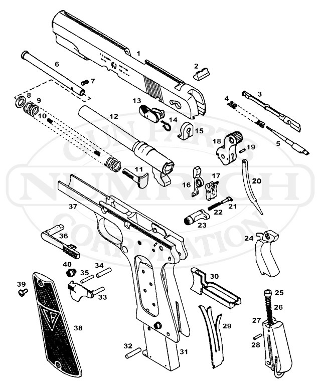 12 Best 1911- .22 Hand Guns Images On Pinterest | Hand Guns with Jennings J 22 Parts Diagram