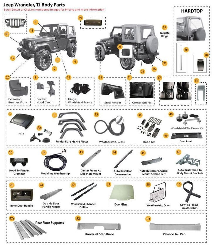 15 Best Jeep Jk Parts Diagrams Images On Pinterest | Jeep Jk, Jeep with 2007 Jeep Wrangler Parts Diagram