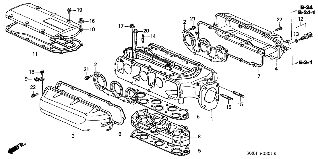 17146-P8E-A21 - Genuine Honda Gasket, In. Manifold (Upper) with 2002 Honda Odyssey Parts Diagram