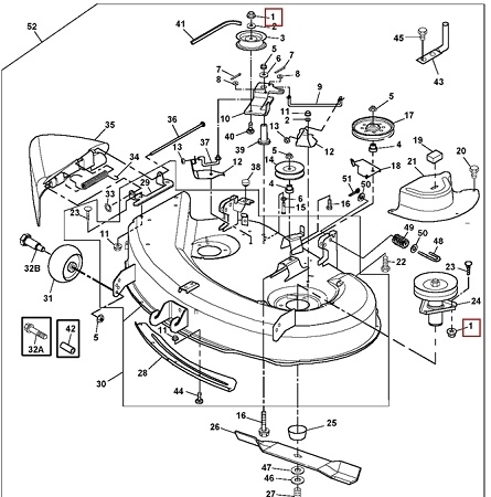 18 Best John Deere Mower Decks Images On Pinterest | Deck within John Deere L110 Parts Diagram