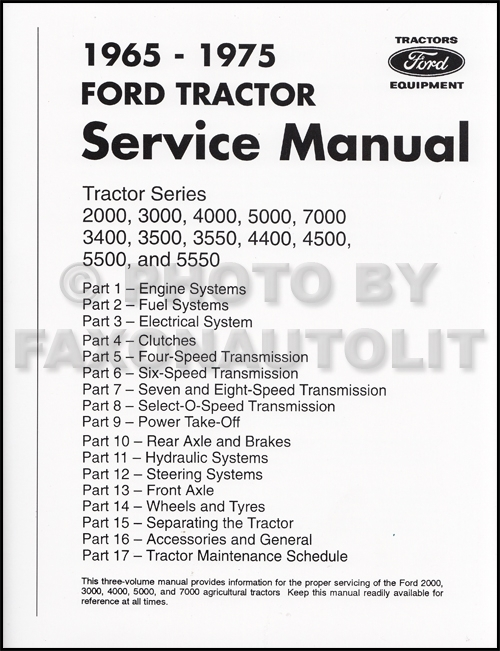 1965-1975 ford tractor repair shop manual reprint 2000 ... 1965 ford 3000 wiring diagram 1965 ford f250 wiring diagram