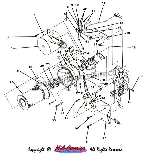 1984-1991 Club Car Ds Gas - Club Car Parts & Accessories with Club Car Ds Parts Diagram