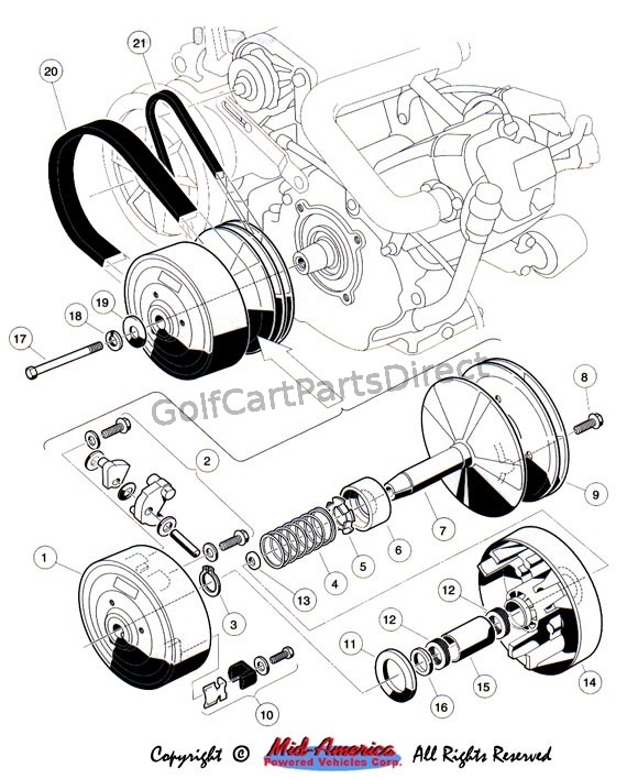 1992-1996 Club Car Ds Gas Or Electric - Club Car Parts & Accessories pertaining to Yamaha Golf Cart Parts Diagram