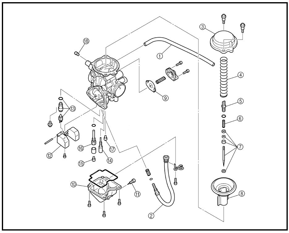 1995 Yamaha Kodiak 400 - Carb Problem - Yamaha Atv Forum within Yamaha Kodiak 400 Parts Diagram