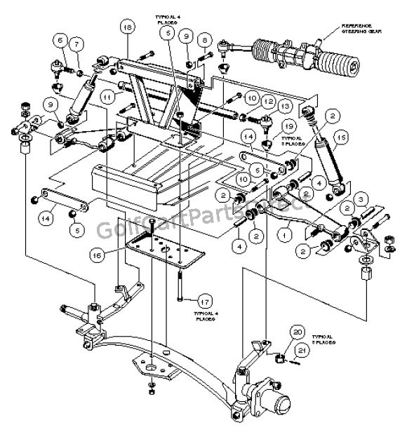 1997 Carryall 1, 2 & 6Club Car - Club Car Parts & Accessories in Ezgo Golf Cart Parts Diagram