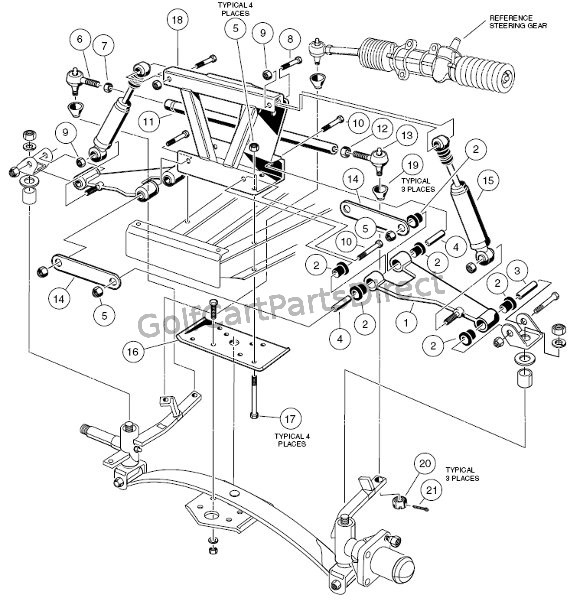 1997 Club Car Gas Ds Or Electric - Club Car Parts & Accessories regarding Club Car Ds Parts Diagram