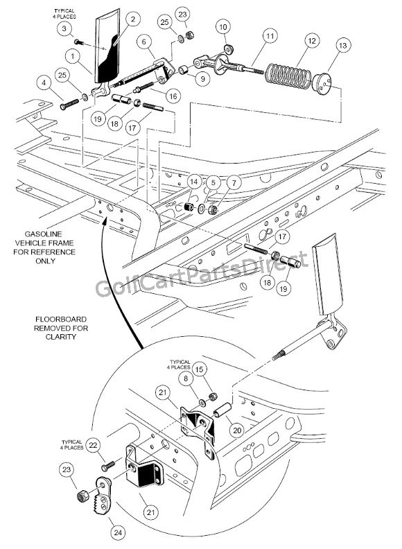 1998-1999 Club Car Ds Gas Or Electric - Club Car Parts & Accessories regarding Club Car Ds Parts Diagram