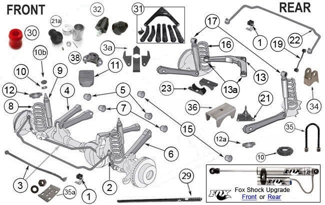 1999-2004 Jeep Grand Cherokee Wj/wg |Jeep Suspension Parts |Morris regarding 1999 Jeep Cherokee Parts Diagrams