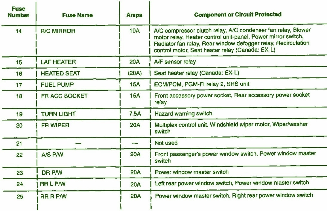 2001 Honda Crv Parts Diagram