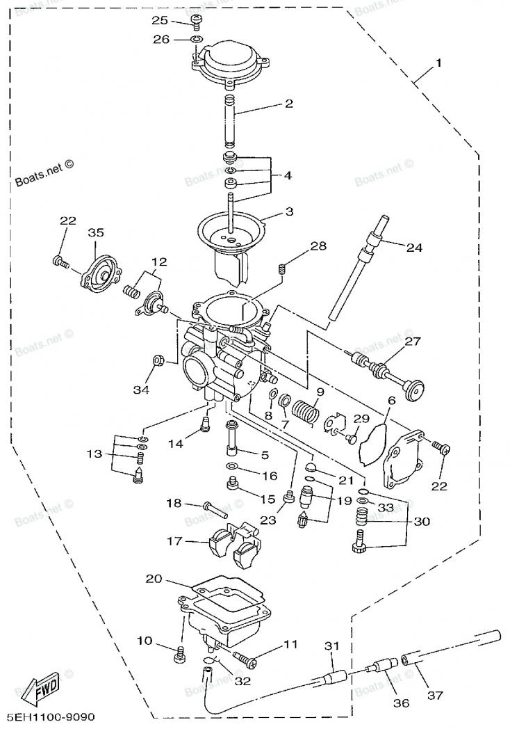 1999 Yamaha Kodiak Carb Adjustment Issue. - Yamaha Grizzly Atv for Yamaha Kodiak 450 Parts Diagram