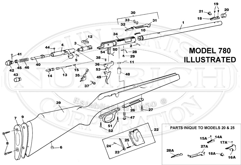 20 Bolt Action Rifle Schematic | Numrich pertaining to Marlin 30 30 Parts Diagram
