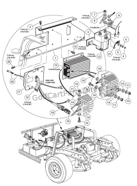 2000-2005 Club Car Ds Gas Or Electric - Club Car Parts & Accessories with regard to Club Car Ds Parts Diagram