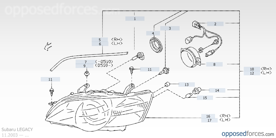 2001 Subaru Outback Parts Diagram Automotive Parts