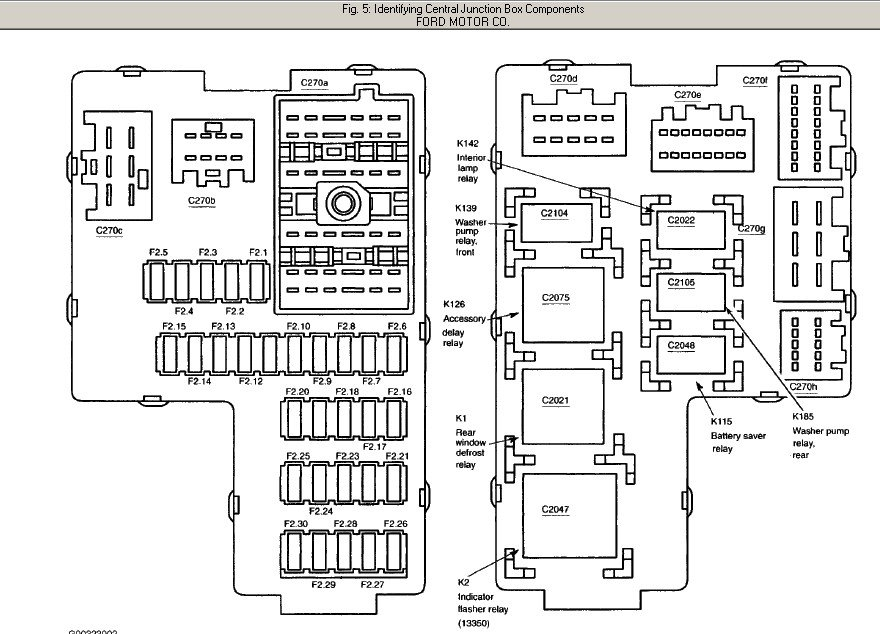 2002 Ford Explorer Fuse Box Diagram Needed. regarding 2002 Ford Explorer Parts Diagram