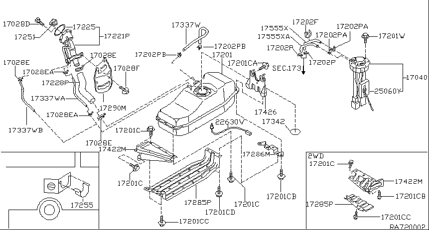 2002 Nissan Frontier Parts Diagram Automotive Parts