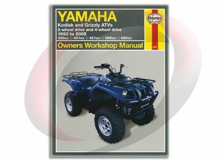 2003-2005 Yamaha Kodiak 450 Haynes Repair Manual 2567 Shop Service regarding Yamaha Kodiak 450 Parts Diagram
