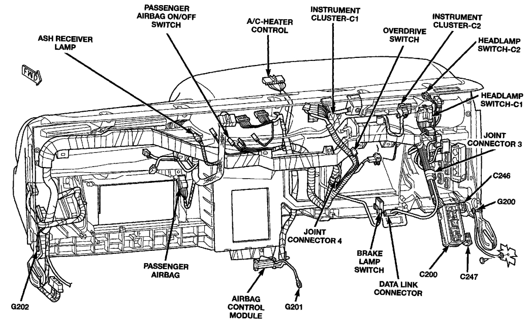 2005 Dodge Dakota Parts Diagram