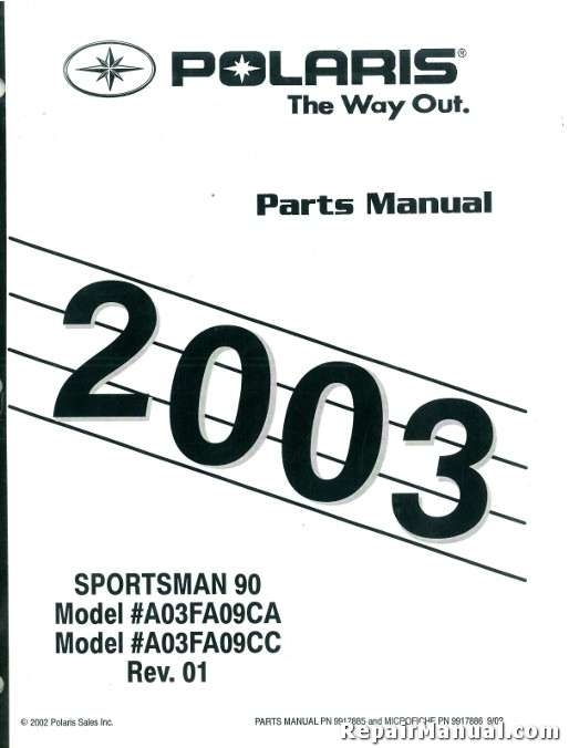 2003 Polaris Sportsman 90 Atv Parts Manual inside Polaris Sportsman 90 Parts Diagram