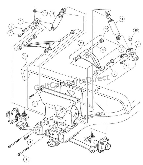 2004-2007 Club Car Precedent Gas Or Electric - Club Car Parts within Club Car Ds Parts Diagram