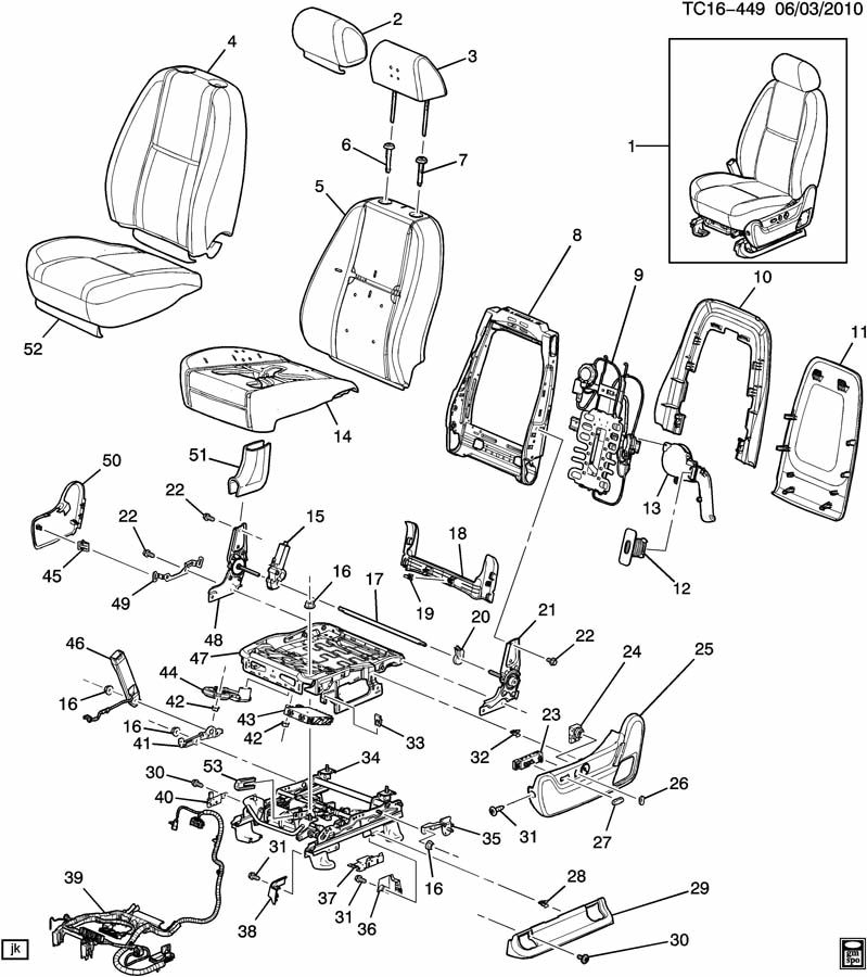 2005 Chevy Tahoe Seat Parts - Velcromag inside 2007 Chevy Tahoe Parts Diagram
