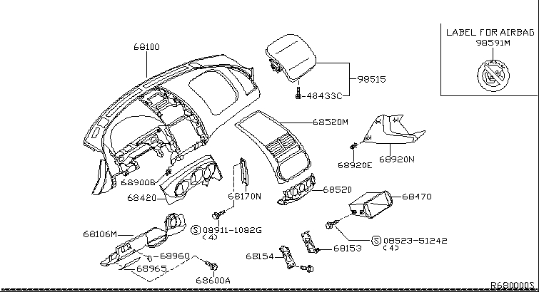 2005 Nissan Altima Sedan Oem Parts - Nissan Usa Estore for 2003 Nissan Altima Parts Diagram