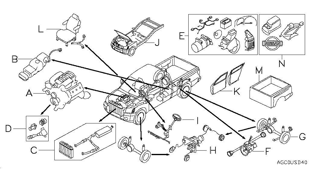 2005 nissan frontier wiring diagram 2000 nissan frontier parts diagram automotive parts #12