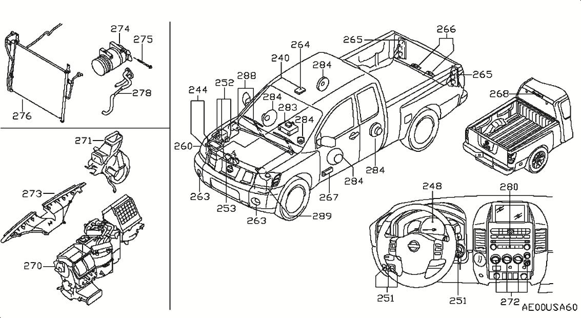 Nissan titan parts diagram automotive