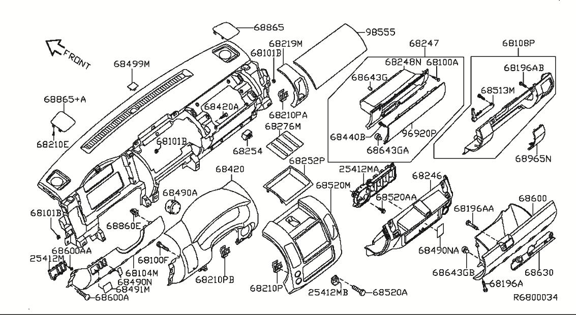 2006 Nissan Xterra Oem Parts - Nissan Usa Estore throughout 2002 Nissan Xterra Parts Diagram