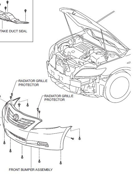 2007 Toyota Camry - Factory Service Manual Toyota Camry - Repair7 throughout 2007 Toyota Camry Parts Diagram
