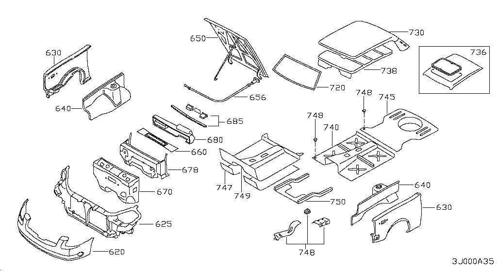 1998 nissan pathfinder bumper parts diagram  nissan  auto