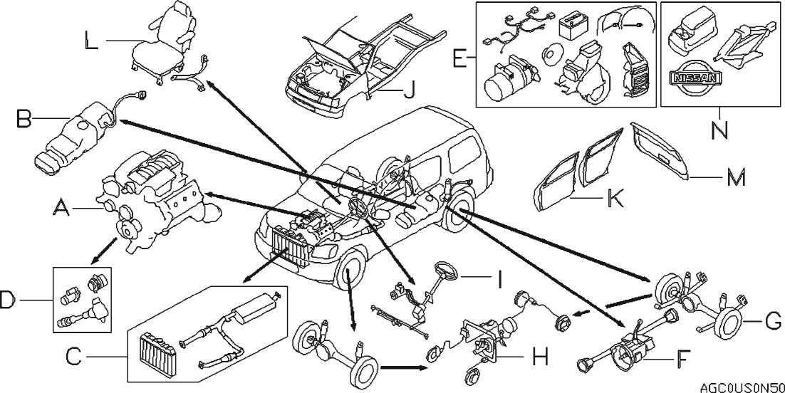 2012 Nissan Xterra Oem Parts - Nissan Usa Estore throughout 2002 Nissan Xterra Parts Diagram
