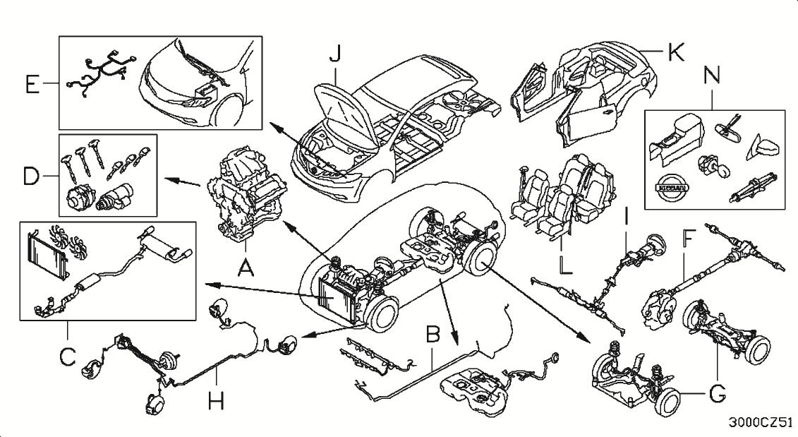 2005 Nissan Murano Parts Diagram