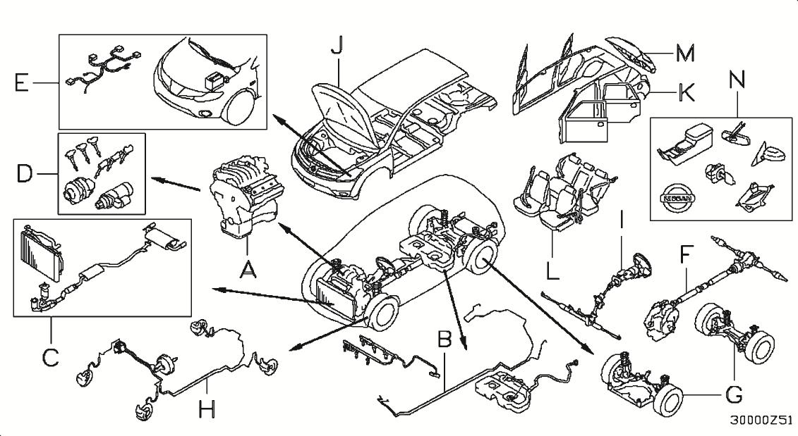 2013 Nissan Murano Oem Parts - Nissan Usa Estore for 2003 Nissan Altima Parts Diagram