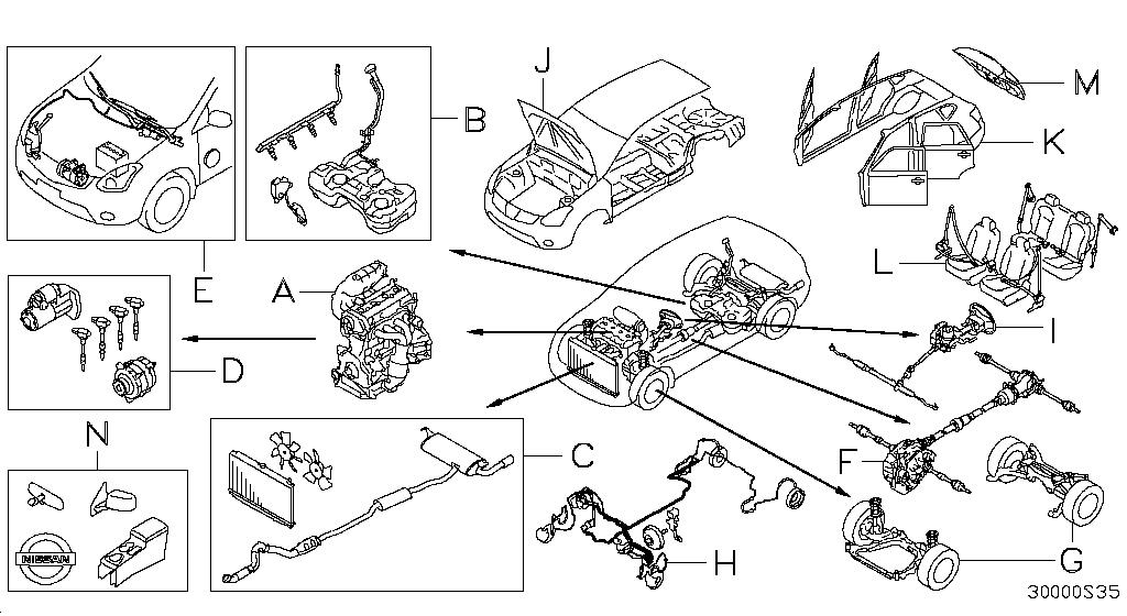 2013 Nissan Rogue Oem Parts - Nissan Usa Estore intended for 2005 Nissan Murano Parts Diagram