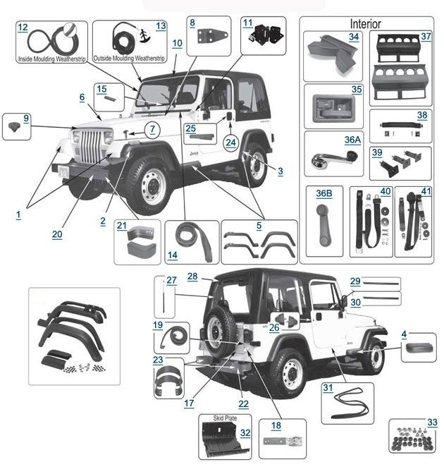 22 Best Jeep Yj Parts Diagrams Images On Pinterest | Jeep Wrangler for 1995 Jeep Wrangler Parts Diagram