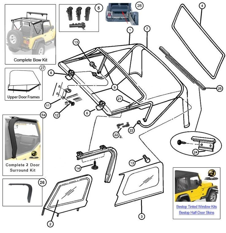 23 Best Jeep Tj Parts Diagrams Images On Pinterest | Jeep Tj in 2007 Jeep Wrangler Parts Diagram
