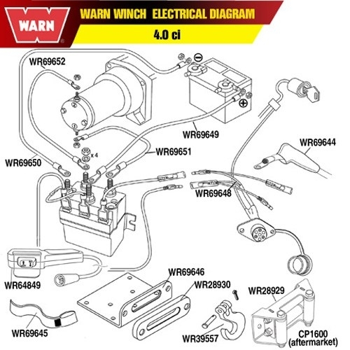 3-Wire Remote Wiring Diagram: Winchserviceparts – Readingrat for Warn Atv Winch Parts Diagram