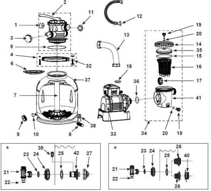 3000Gph Krystal Clear™ Sand Filter Pump, 110-120V With Gfci - Intex regarding Intex Pool Pump Parts Diagram