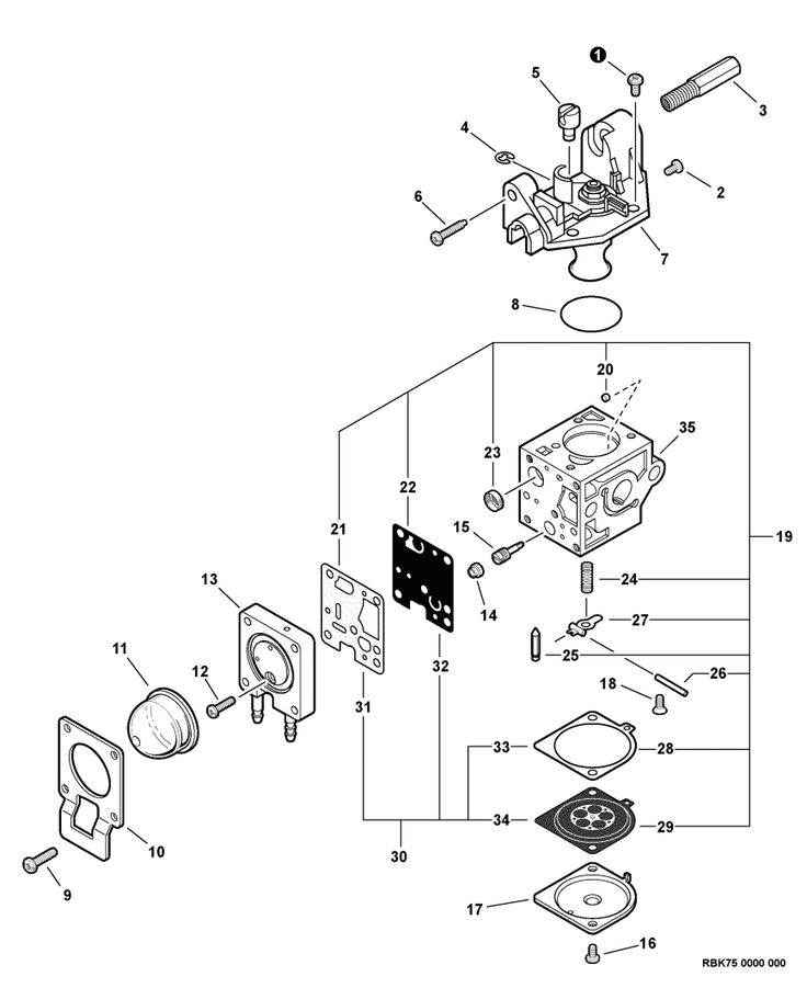 small engine carburetor parts diagram
