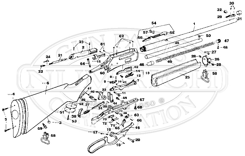 336A Schematic | Numrich for Marlin 30 30 Parts Diagram