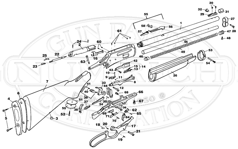 336Cs Schematic | Numrich for Marlin 30 30 Parts Diagram