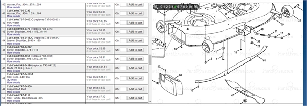 38 Inch Mower Deck Disassembly For Cub Cadet 1620 Lawn - Fixya throughout Cub Cadet Lt1042 Parts Diagram