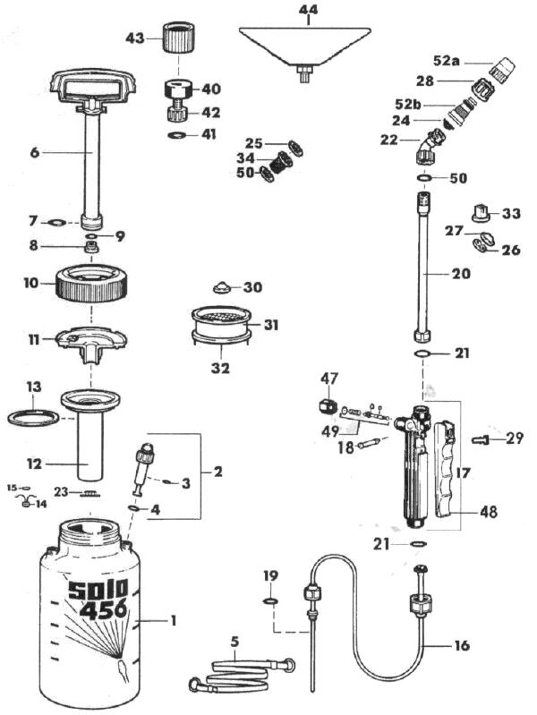 450 Series Portable Sprayer Partsdiagram Number with Solo Backpack Sprayer Parts Diagram