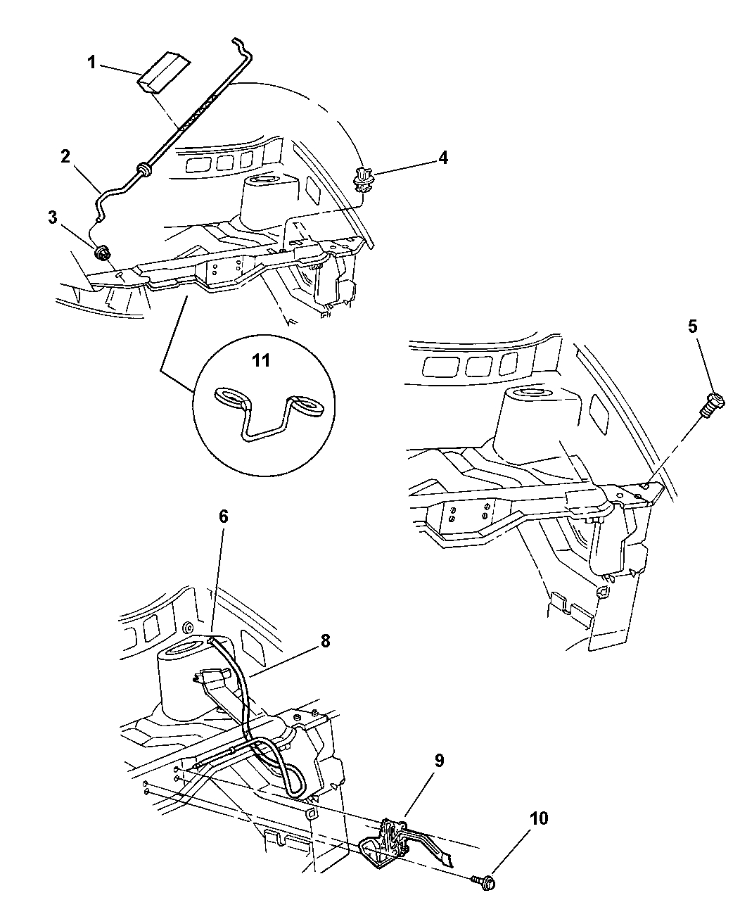 4717480Ab - Genuine Mopar Latch-Hood Latch inside Chrysler Town And Country Parts Diagram