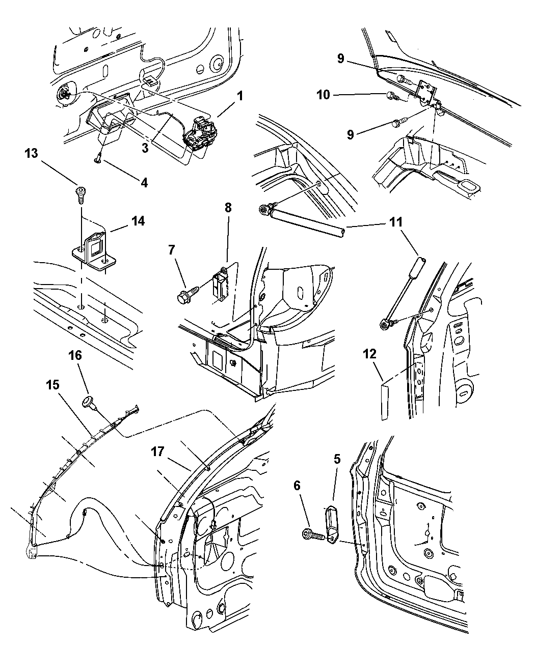 5019039Aa - Genuine Mopar Latch-Liftgate within 2001 Chrysler Town And Country Parts Diagram