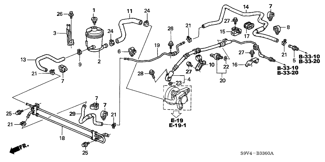 53713-S9V-A01 - Genuine Honda Hose, Power Steering Feed in 2005 Honda Pilot Parts Diagram