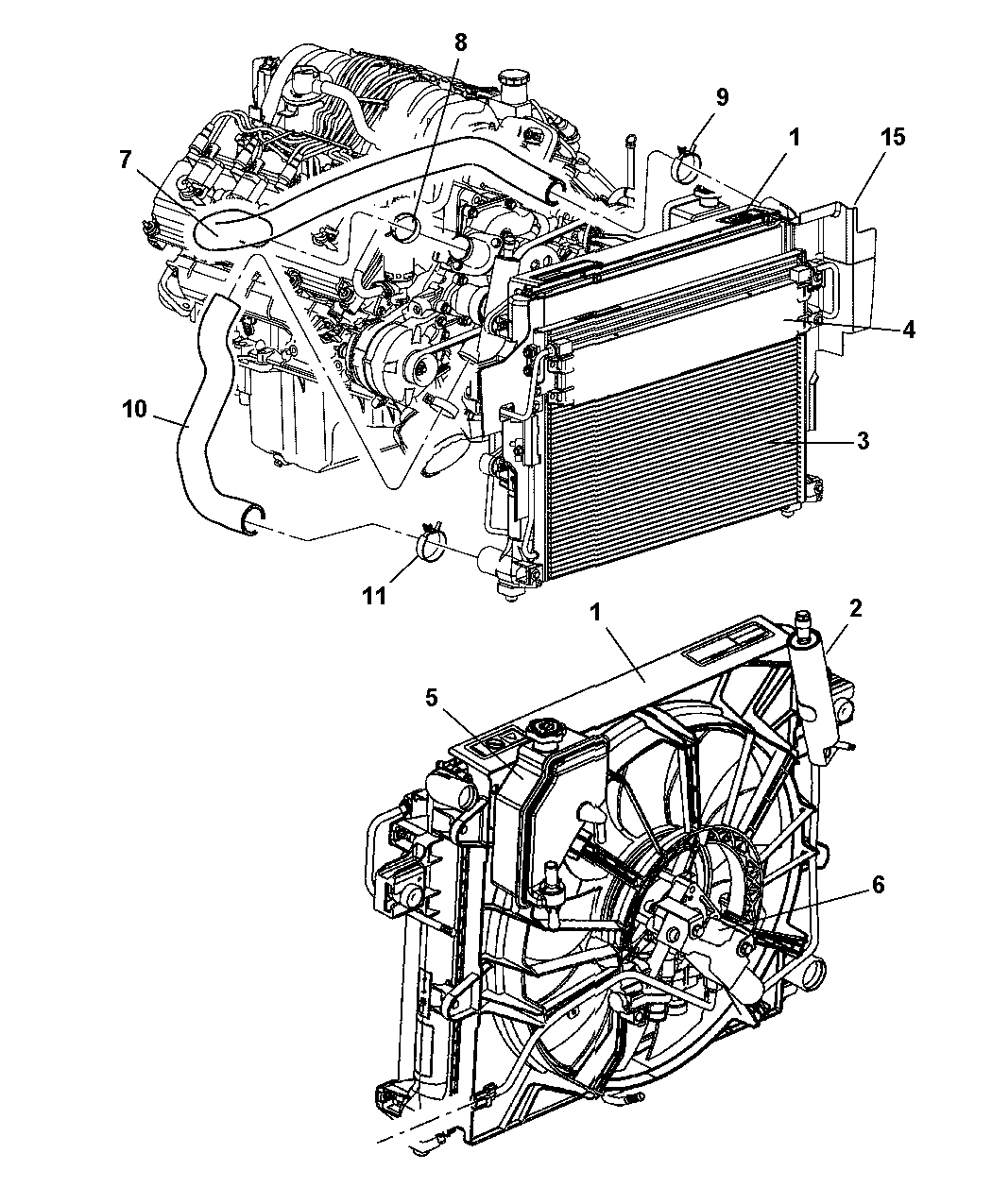 55116868Aa - Genuine Mopar Hose-Radiator Outlet intended for 2005 Jeep Grand Cherokee Parts Diagram