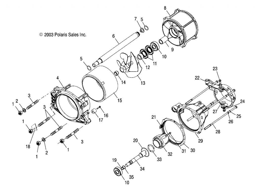 6 Vane Jet Pump Stator - Page 2 with regard to Polaris Jet Ski Parts Diagram